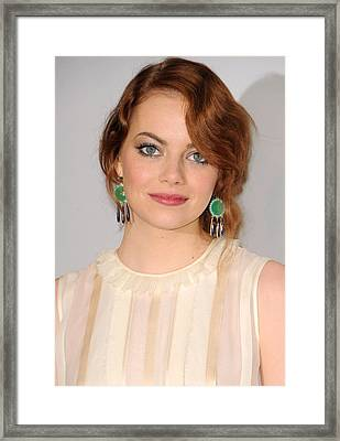 Emma Stone Wearing Irene Neuwirth Framed Print