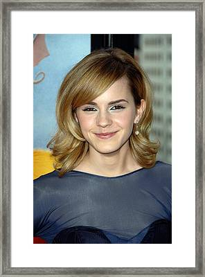 Emma Watson At Arrivals For Los Angeles Framed Print
