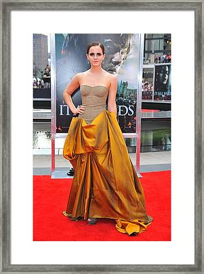 Emma Watson Wearing A Bottega Veneta Framed Print by Everett