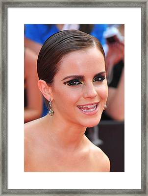 Emma Watson Wearing Lorraine Schwartz Framed Print by Everett