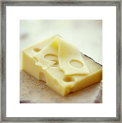 Emmental Cheese Framed Print by David Munns