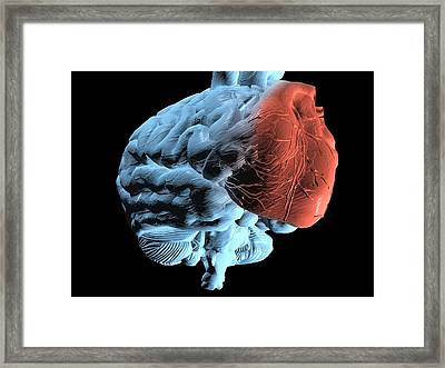 Emotional Intelligence, Computer Artwork Framed Print by Laguna Design