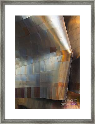 Emp Abstract Fold Framed Print by Chris Dutton