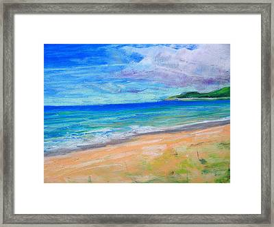 Empire Beach Framed Print by Lisa Dionne
