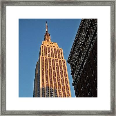 #empire #newyorker #newyork #ny Framed Print