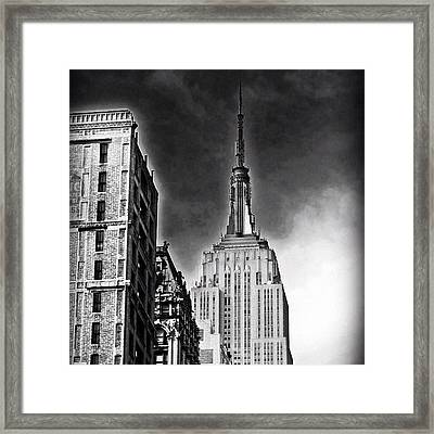 #empire #newyorker #ny #architecture Framed Print