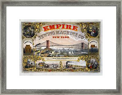 Empire Sewing Brooklyn Framed Print by Charles  shoup