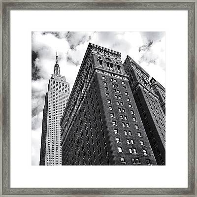 Empire State Building - New York City Framed Print
