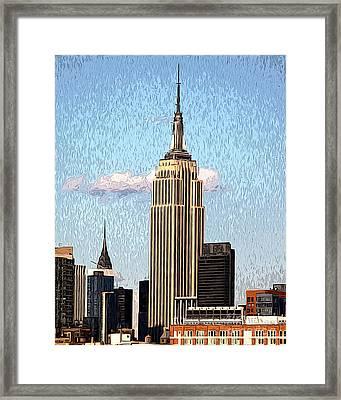 Empire State Building Framed Print by Anne Raczkowski