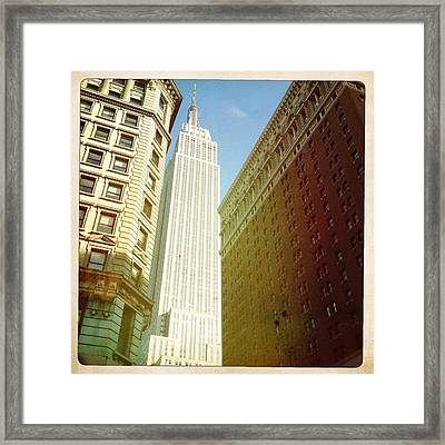 Empire State Building Framed Print by Ben Peterson