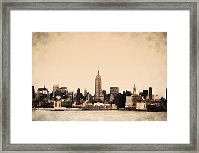 Empire State Building Framed Print by Bill Cannon