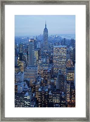 Empire State Building Framed Print by Buena Vista Images