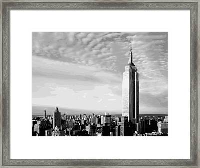 Empire State Building Bw16 Framed Print by Scott Kelley