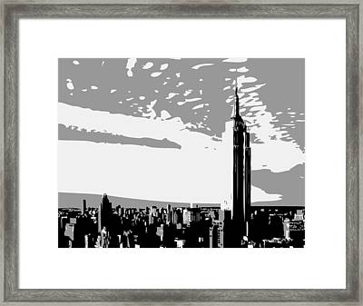 Empire State Building Bw3 Framed Print