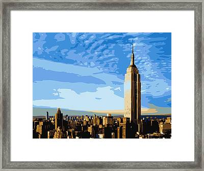 Empire State Building Color 16 Framed Print by Scott Kelley
