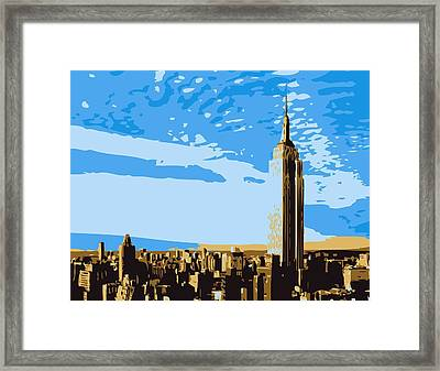 Empire State Building Color 6 Framed Print