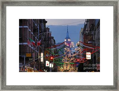 Empire State Building  Framed Print by Ed Rooney