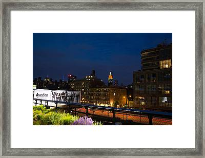 Empire State From High Line Framed Print by John Dryzga