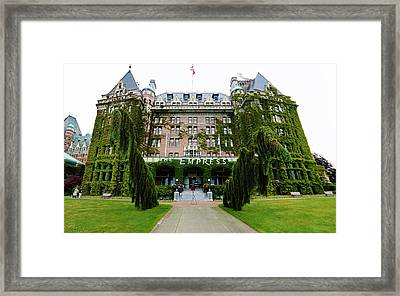 Empress Hotel - Victoria Canada  Framed Print by Gregory Dyer