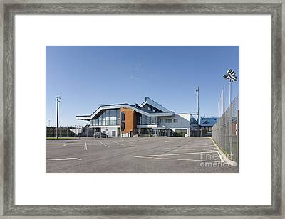 Empty Airport Parking Lot Framed Print