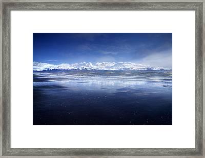 Empty Beach Framed Print by Michele Cornelius