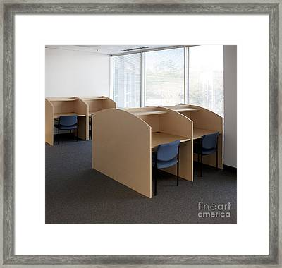 Empty Carrels Framed Print by Will & Deni McIntyre