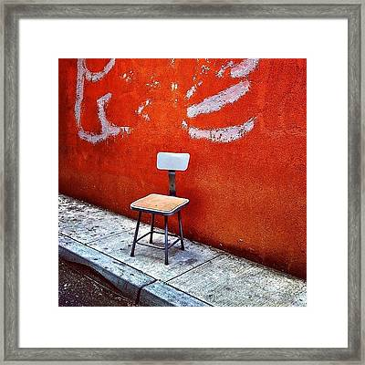 Empty Chair Framed Print