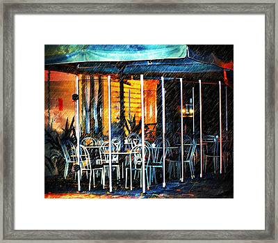 Empty Chairs And Empty Tables Framed Print by Georgiana Romanovna