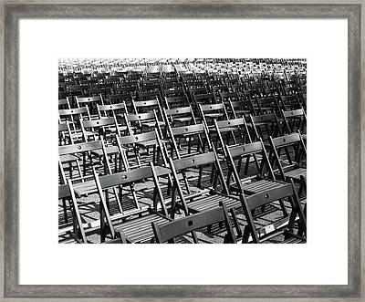Empty Chairs Framed Print by Christoph Hetzmannseder