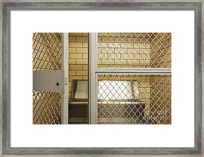 Empty Jail Holding Cell Framed Print by Jeremy Woodhouse
