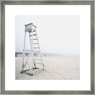 Empty Life Guard Station Framed Print