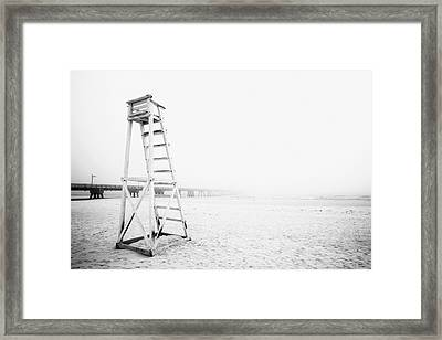 Empty Life Guard Tower 2 Framed Print by Skip Nall