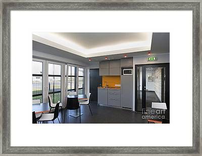 Empty Office Lunchroom Framed Print by Jaak Nilson