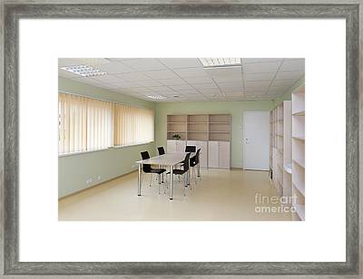 Empty School Classroom Framed Print by Jaak Nilson