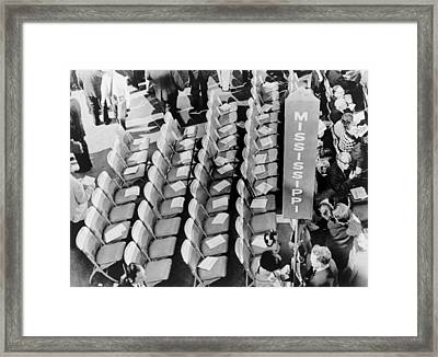 Empty Seats Of The Mississippi Framed Print by Everett