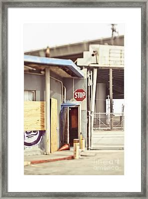 Empty Security Guard Shack Framed Print by Eddy Joaquim