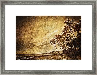 Empty Tropical Beach 3 Framed Print by Skip Nall
