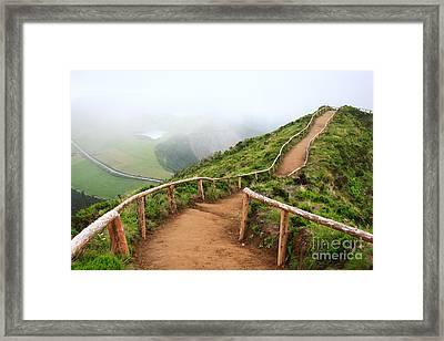 Empty Walking Trail Framed Print by Gaspar Avila
