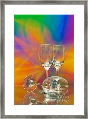 Empty Wine Glass Framed Print by Anuwat Ratsamerat