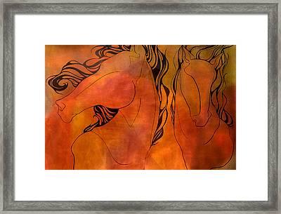 En Gallop Framed Print