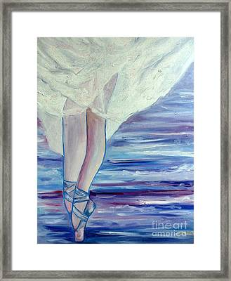 Framed Print featuring the painting En Pointe by Julie Brugh Riffey