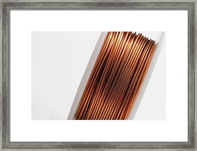 Enamel Coated Copper Wire Framed Print