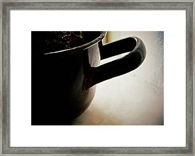 Enamel Pot Framed Print by Odd Jeppesen