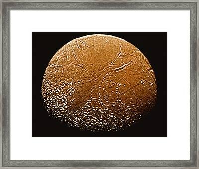 Enceladus Framed Print by Stocktrek