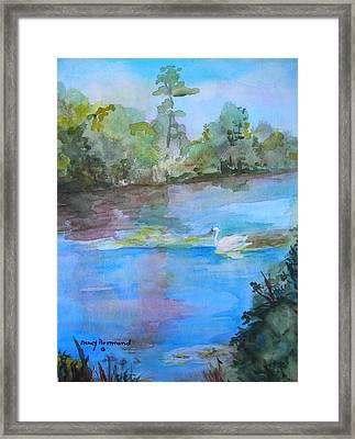 Enchanted Lake Framed Print by Nancy Brennand