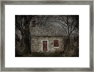 Enchanted Moonlight Cottage Framed Print by John Stephens