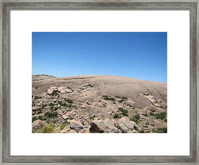 Enchanted Rock Framed Print by Barry Moore