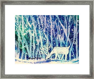 Enchanted Winter Forest Framed Print by Shana Rowe Jackson