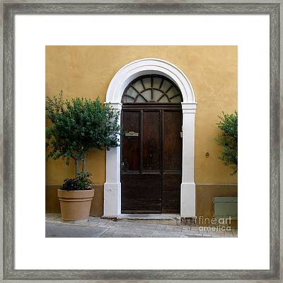 Framed Print featuring the photograph Enchanting Door by Lainie Wrightson