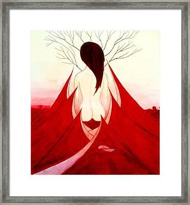 Enchantress Red Framed Print by Fariz Kovalchuk
